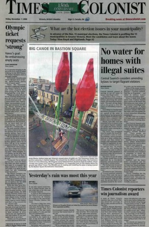 Times Colonist: November 7, 2008