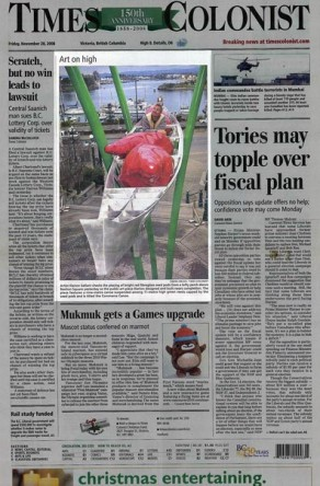 Times Colonist: November 28, 2008
